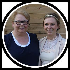 Martine Hemeleers en Lynn Laureyn